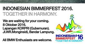 Rundown Indonesian Bimmerfest 2016 di Lampung